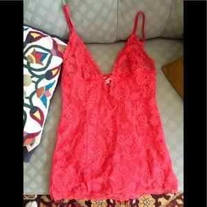 Sexy Victoria's Secret lace mini chemise! 🧡❤️